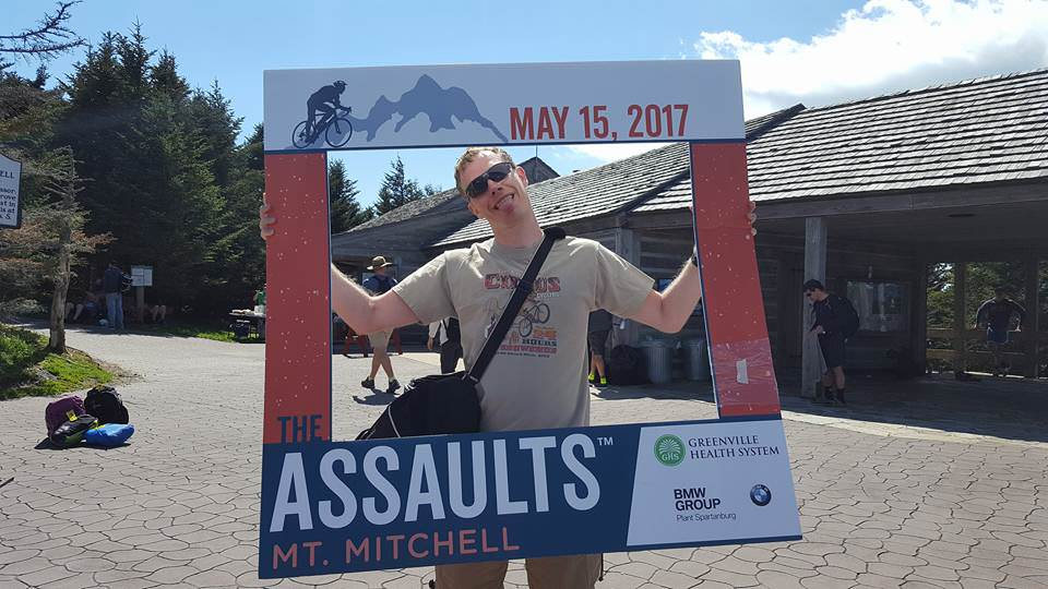Completed the 2017 Assault on Mount Mitchell - Go Jeremy! Post ACL rehab success!